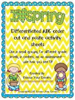 Spring ABC order Cut and Glue