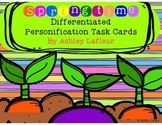Springtime Differentiated Personification Task Cards