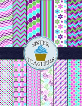 Springtime Digital Paper Pack by Sister Teachers
