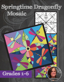 Springtime Dragonfly Mosaic - Interactive Coloring Sheets