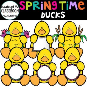 Springtime Ducks {Spring Clip art}