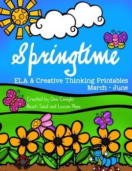 Springtime ELA & Creative Thinking Printables