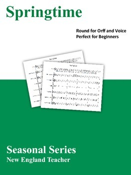 Springtime: Easy Round for Orff and Voice