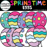 Springtime Eggs Clip Art {Easter Eggs Clip Art}