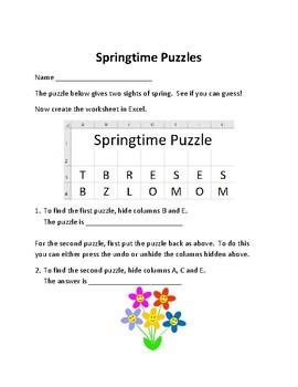 Springtime Excel Puzzles
