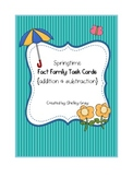 Springtime Fact Family Task Cards {addition and subtraction}
