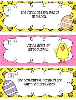 Springtime Fact Or Opinion? [Literacy Center]