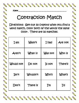 Contraction Match