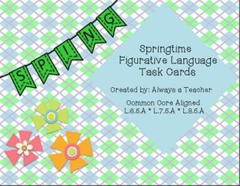 Springtime Figurative Language Task Cards