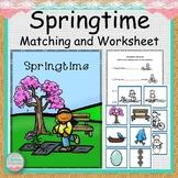 Springtime File Folder Match and Worksheet