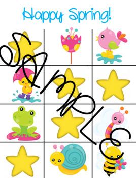 Springtime Find A Star Reward System for Online ESL Teaching