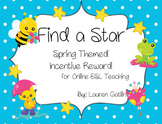 Springtime Find A Star Reward System for Online ESL Teaching