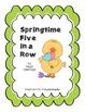 Springtime Five in a Row Math Center