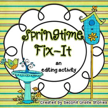 Springtime Fix-It ~ an editing activity