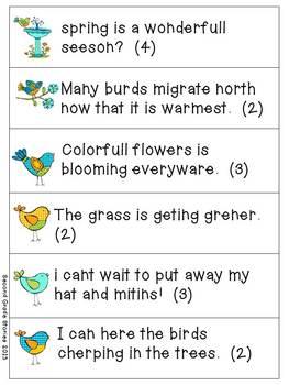 Springtime Fix-It ~ an editing activity