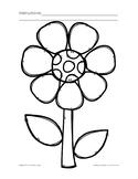 Springtime Flower Open-Ended Worksheet