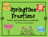 Springtime Fractions: Halves and Fourths