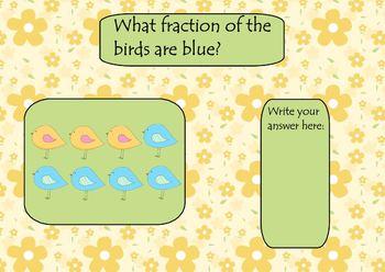 Springtime Fractions Smart Board Lesson
