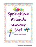 Springtime Friends Preschool Number Sorting