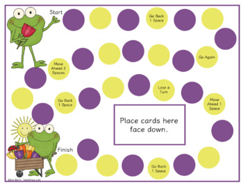 Game Boards - Dolch Sight Words Practice - Springtime Frog Edition