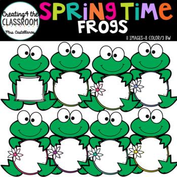 Springtime Frogs {Spring Clip Art}