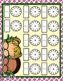 Springtime Fun Full Sheet Telling Time Blank Clocks Mat Dry Erase