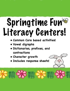 Springtime Fun Literacy Centers