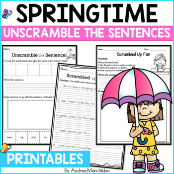 Springtime Fun- Unscramble the Sentences!