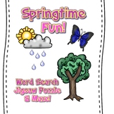 Springtime Fun!  Word search, Maze & Jigsaw Puzzle!