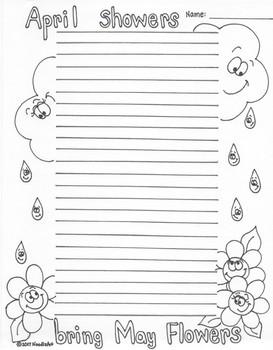Springtime (Easter) Fun Writing Paper