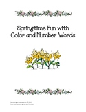 Springtime Fun with Color and Number Words