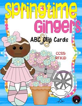 Springtime Ginger ABC Clip Cards Alphabet Literacy Center