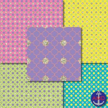 Springtime Glitz Digital Paper Mega Pack