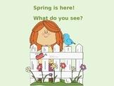 Springtime I see + size + color + object - Picture Exchange Sentences