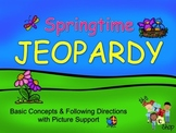 Springtime Jeopardy - Basic Concepts with Picture Support