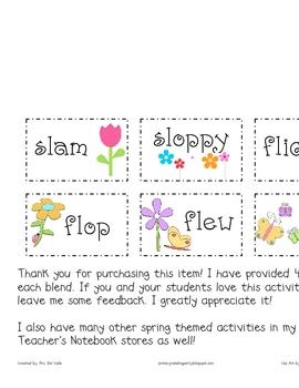 Springtime L-Blends Word Sort