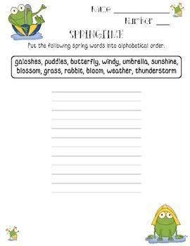Springtime Language Skills Games, Worksheets, Printables