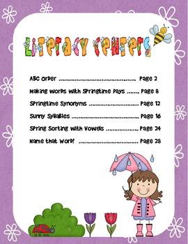 Springtime Literacy Fun