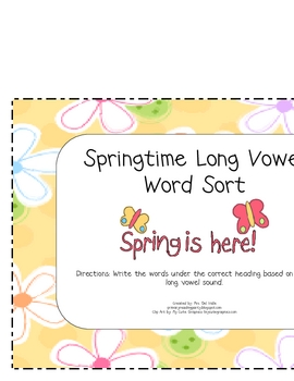 Springtime Long Vowel Word Sort
