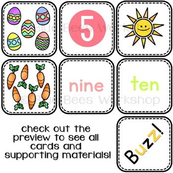 Spring Activity - Counting Numbers 1 to 10 Matching Game
