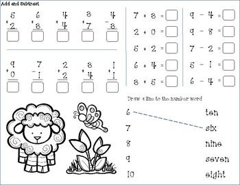 Springtime Math Morning Work