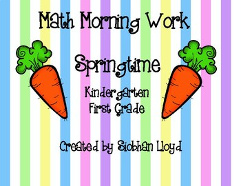 Springtime Math Morning Work
