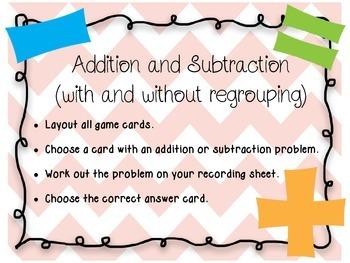 Springtime Math Review Activities