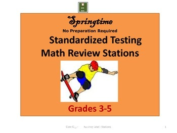 Springtime Math Stations for Standardized Testing: No Prep