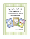 Springtime Math and Literacy Centers: Grades Three and Four