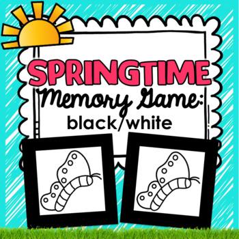 Springtime Memory Game Activity