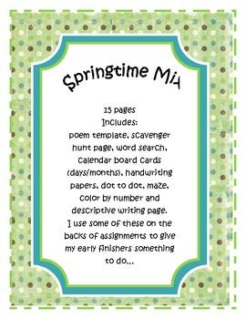 Springtime Mix 15 pages