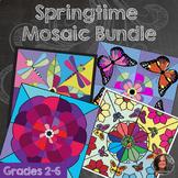 Springtime Mosaic Bundle - Collaborative Coloring Sheets