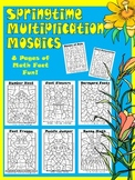 Springtime Multiplication Mosaics-Math Fact Fun! New Images!