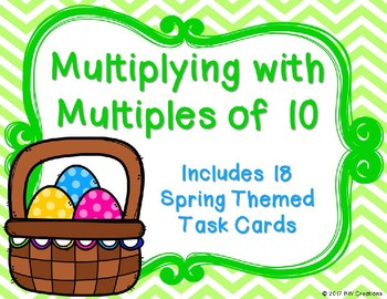 Multiplying with Mutltiples of 10 {Springtime}